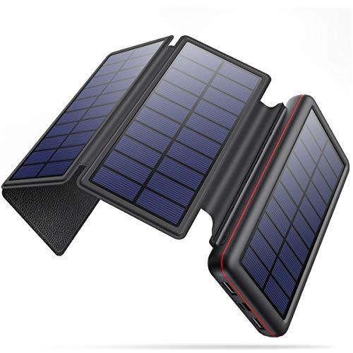 iPosible Solar Powerbank 26800mAh mit 4...