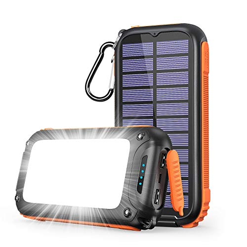 A ADDTOP Solar Powerbank Tragbares Solar...