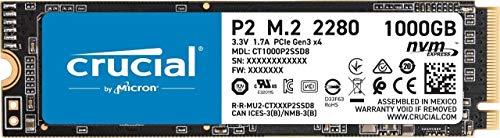Crucial P2 CT1000P2SSD8 1TB Internes SSD, Bis...