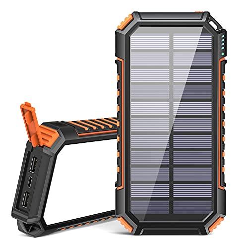 Riapow Solar Powerbank 26800mAh Tragbares...