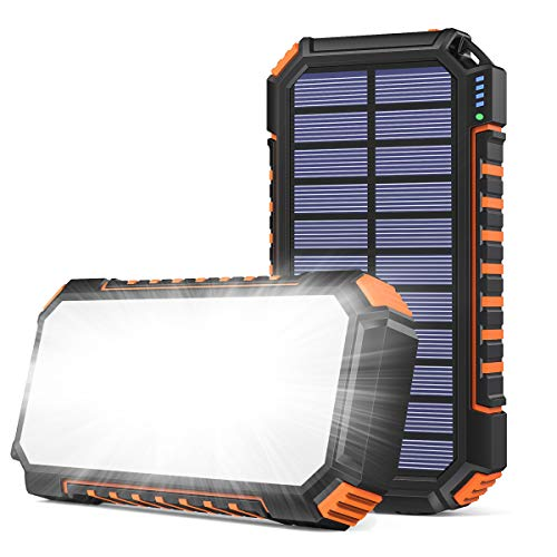 Riapow Solar Powerbank 26800mAh,...