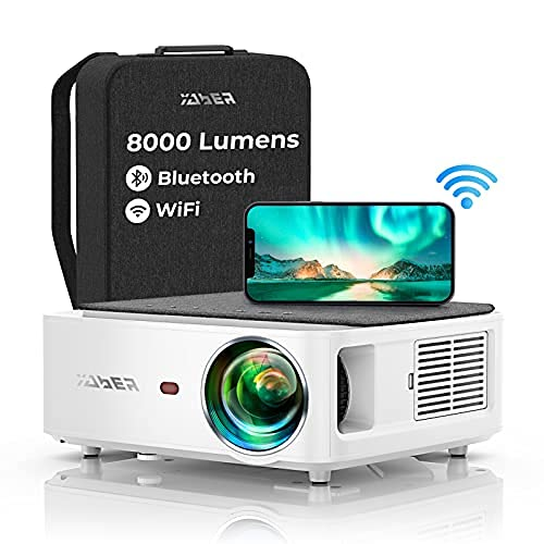 YABER WiFi Bluetooth 5G Beamer 8000 Lumen...