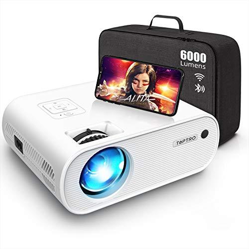 Mini Beamer, TOPTRO WiFi Bluetooth Projektor,...