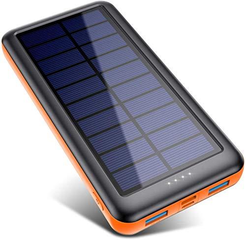 Pxwaxpy Solar Power Bank Outdoor 26800 mAh 3...