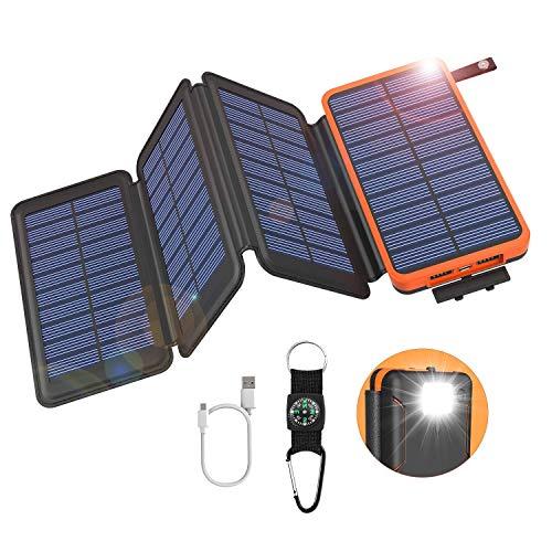 GOODaaa Solar Powerbank 25000mAh, Solar Power...