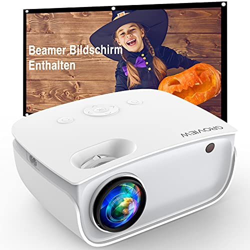 GROVIEW WiFi Beamer, 6500 Lumen Mini Video...