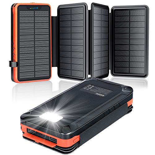 elzle Solar PowerBank 26800mAh, Solar...
