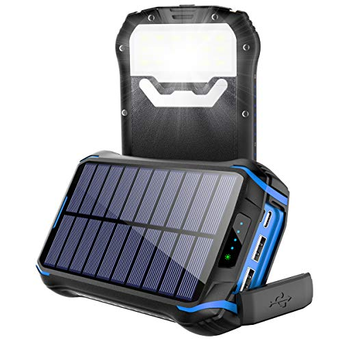 Soluser Powerbank Solar Wasserdicht 26800mAh...