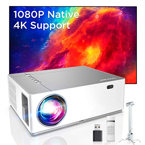 Bomaker UHD 4K Beamer, 7200 Native Full HD...