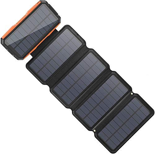 Sendowtek Solar Powerbank 26800mAh mit 5...