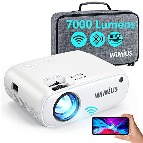 WiFi Bluetooth Beamer, WiMiUS 7000 L Mini...